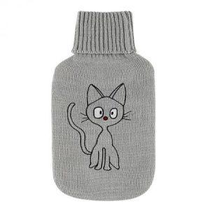 Bolsa de agua caliente con gato bordado