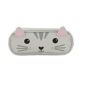 estuche lapices gato gris