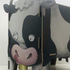 cofre taburete vaca contenedor