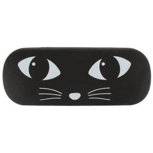 Funda gafas gato negro